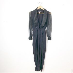 Vintage 1990s black formal jumpsuit S